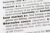 Dictionary definition of bear market