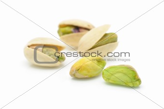 Close up of pistachios nuts