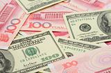 US dollar and China yuan closeup