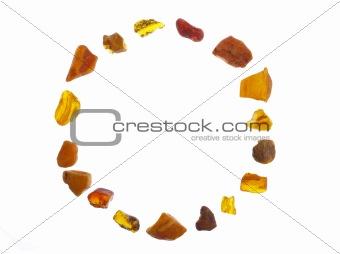 Amber Circular Frame