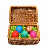 Easter casket with coloured eggs