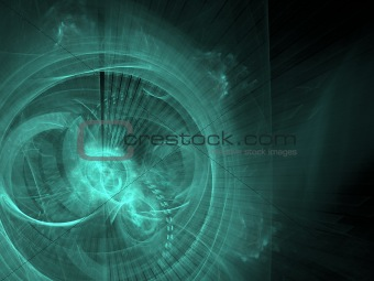 Abstract background. Blue - green palette.