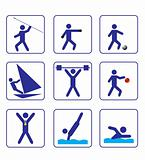 Sports stylize icons set one (vector)