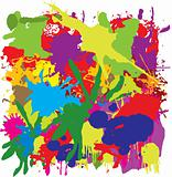 vector colorful grunge painting background