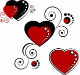 Hearts, design elements