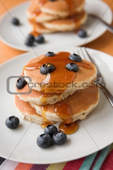 Blueberries & pancakes
