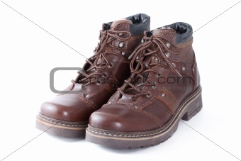Pair of winter shoes isolated