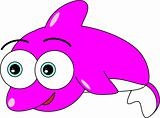 Cute Pink Dolphin