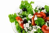 vegetable salad and feta cheese