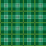 Classic green tartan fabric