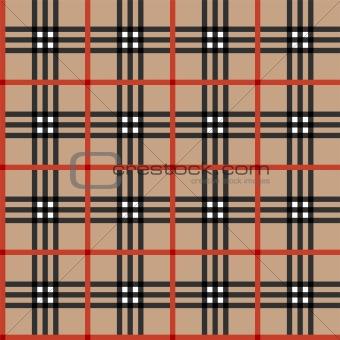 Classic tartan fabric