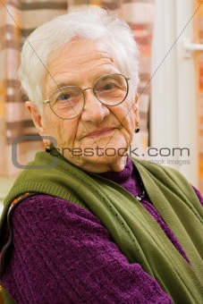 Old woman at home