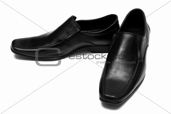 Black low shoes