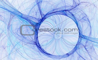 abstract blue circle