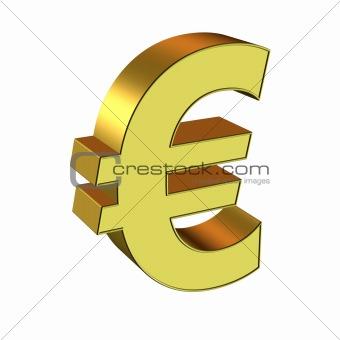3D Gold Symbol - Euro