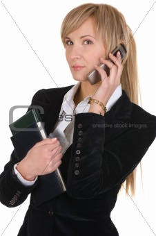 business woman  calling by phone