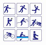 Sports stylize icons set two (vector)