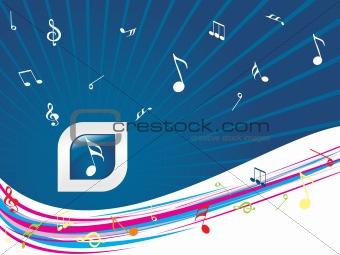 blue musical background illustration