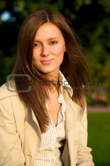 Portrait of a beautiful young attractive women