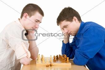 Men play chess
