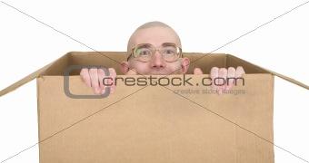 Man in carton