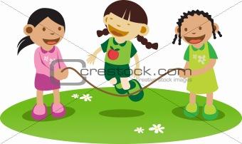 Litle girls Playing