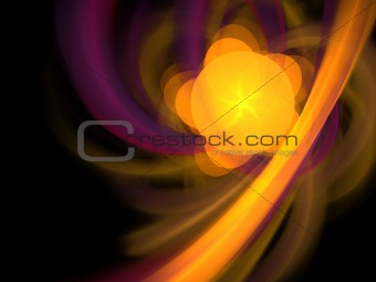 Abstract background. Purple - orange palette.
