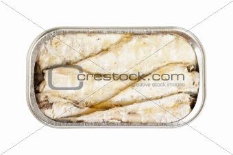 Sardines in open tin