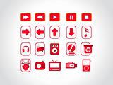 web logo, red stamp series