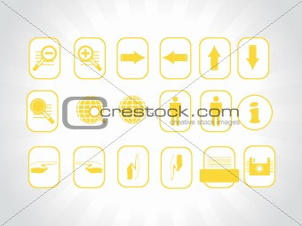 web site and Internet yellow icon set