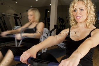 Rowing At The Gym