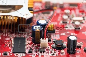 Modern videocard close-up