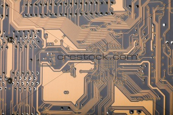 Section of a computer circuit board