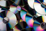 Data storage - multiple CDs overlapping each other