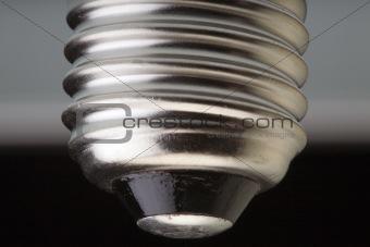 Screw fitting of a light bulb