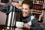 Coffee Crazed Young Man