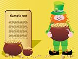 a leprechaun protecting his pot of gold, background