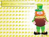 a leprechaun protecting his pot of gold, wallpaper