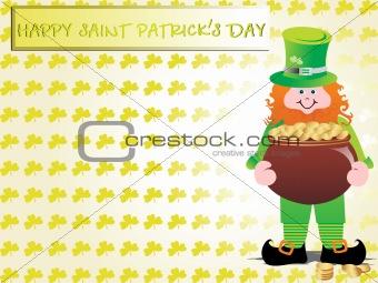 a leprechaun protecting his pot of gold, wallpaper