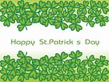 beautiful shamrock clovers, green background