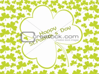 beautiful shamrock clovers, green illustration