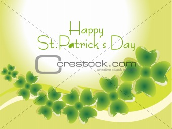 beautiful shamrock clovers, green wallpaper