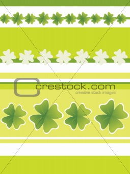 green background, beautiful four leafs clover