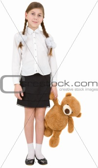 Toy bear and girl
