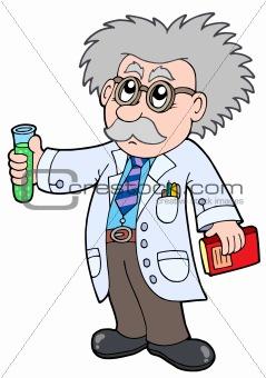 Cartoon scientist -