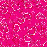 Seamless hearts pattern, vector