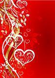 Valentines floral background, vector
