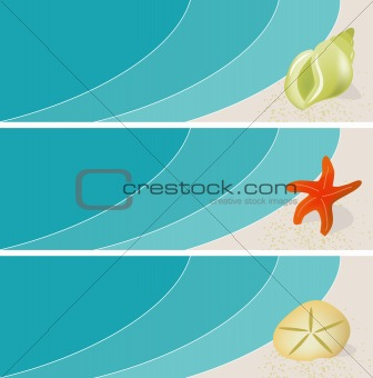Seaside Seashell Banners