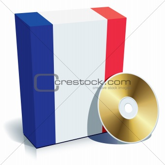 French software box and CD