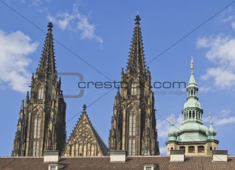 St.Vitus Cathedral towers-Prague Castle